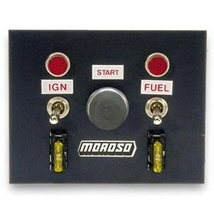 Moroso 74130 Switch Panel Aluminum Black 4 In Wide 5 In Tall 3 Toggle Switches