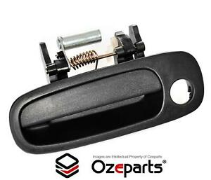 Front Lh Left Hand Outer Door Handle Black For Toyota Corolla Ae112 1998 2001