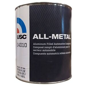 1 Gallon Usc All Metal Auto Body Filler With Hardener 14010 Car Dent Repair