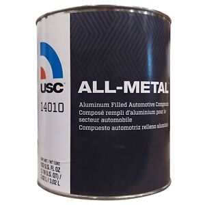 Auto Body Filler Usc All Metal Aluminum Filled Gallon With Hardener 14010