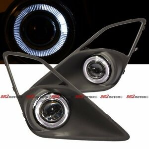 White Led Drl Halo Angel Eyes Projector Fog Lights Lamps Kit For 13 16 Scion Frs