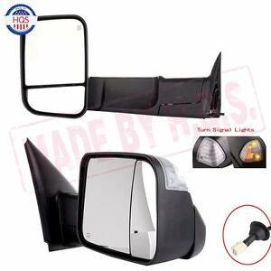 Power Heated Telescoping Towing Mirror For 98 01 Dodge Ram 1500 98 02 2500 3500