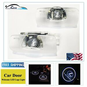 2x Led Laser Projector Door Step Courtesy Light Emblem Logo For Lexus Ls Es Is