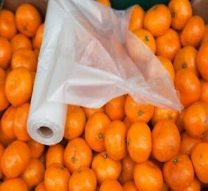 Plastic Produce Bags Perforated Clear 11 X 17 8 Rolls 6000 Bags