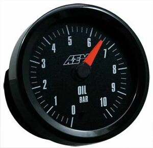 Aem Oil Pressure Gauge 0 10 2bar With Analog Face 30 5135m