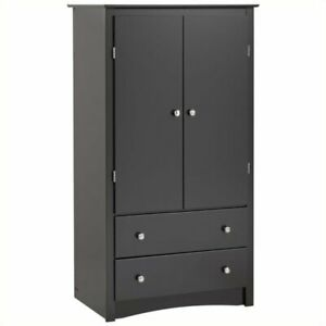 Bowery Hill Tv Wardrobe Armoire In Black