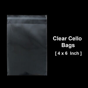 4 X 6 Inch Clear Lip And Tape Self Sealing Cello Bags Meets Usda Fda Standards