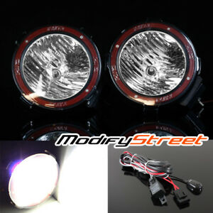 2pc 7 Inch 55w Hid Xenon Offroad Flood Lights Work Search Outdoor Lamp Switch