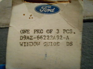 Nos 1979 1989 Ford Ltd Crown Victoria Grand Marquis Front Window Guide New Oem