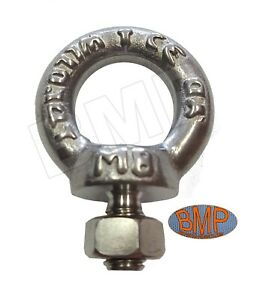 20 316 Stainless Steel Lifting Eye Bolt M8 With Nut Machine Lifting 1200102