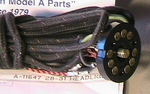 1928 1929 1930 1931 Model A Ford Main Lighting Harness 2 Bulbs In The Headlights