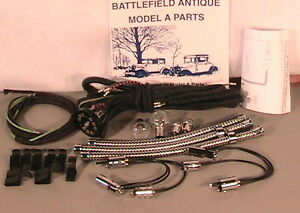 1928 1929 1930 1931 Model A Ford One Bulb Headlight Taillight Wiring Package