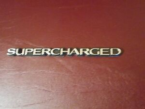 Ford Mustang Saleen Shelby Svt Roush Steeda Supercharged Fender Trunk Emblem 5 5