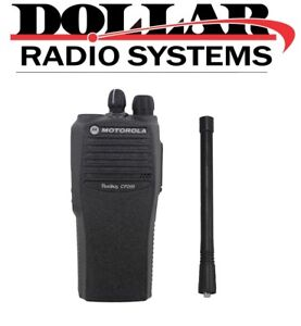 New Motorola Cp200 Vhf 146 174mh 4 Channel 5w Two Way Radio Only Aah50kdc9aa1an