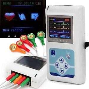New 24 Hour 3 Channel Ecg Color Holter Recorder System Monitor Analyzer Software