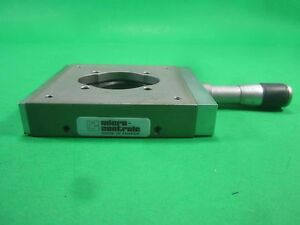 Microcontrole Linear Stage 80x80mm 25mm Travel Used