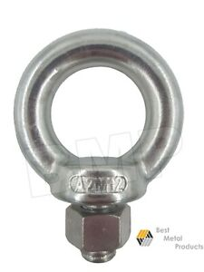 6 316 Stainless Steel Lifting Eye Bolt M12 With Nut Machine Lifting 1200104
