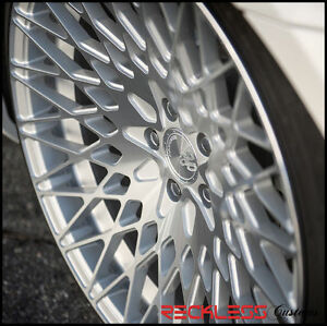 19 Avant Garde M540 Staggered Silver Wheels Rims Fits