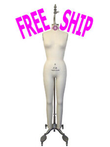 Professional Full Body Dress Forms Sewing Mannequin Collapsible Shoulders Size 6