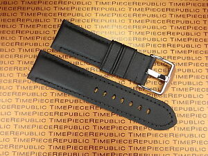 24mm Pam 1950 Black Leather Kevlar Strap TOILE Fabric Tang Tongue Watch Band $34.50