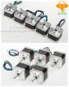 Stepper Motor 10pcs Nema17 3d Printer 1 7a 55oz in 17hs4401n 2phase 3d Printer