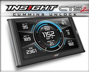 Edge 84132 Insight Cts2 Monitor W unlock Cable For Ram Cummins Diesel
