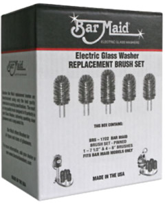 Bar Maid Brs 1722 Electric Glass Washer Replacement Brush Set 5 Brushes Genuine