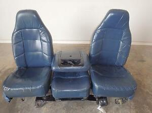 92 93 94 95 96 97 Ford F150 F250 F350 Front Seats Power Leather Ext Cab Mark Iii