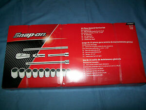 New Snap On 414ahd 3 4 Drive 12 Pt Socket Set Extensions Breaker Bar Ratchet