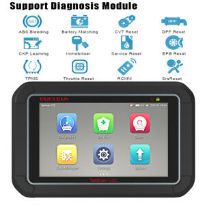 Automotive Obd2 Full System Diagnostic Tablet Abs Epb Cvt Tpms Brt Scanner Tools