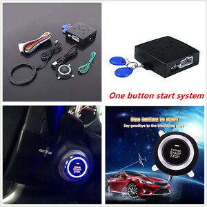 12v Car Alarm System Keyless Entry Push Button Start Remote Engine Start Starter