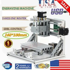 3 Axis Mini 1610 Cnc Router Engraving Machine Grbl 500mw Laser Mill Pcb Pvc