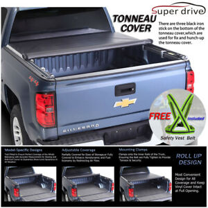 Fits 2015 2019 Ford F150 Roll Up Lock Soft Tonneau Cover 8ft 96in Long Bed