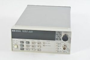 Hp Agilent 53181a Frequency Counter 225mhz 12 4ghz 10 Digit 010 Oven 124