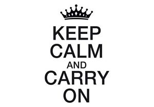 Decal Vinyl Truck Car Sticker Keep Calm And Carry On