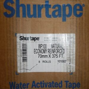 Shurtape Wp 100 Wp 100 Water activated Packaging Tape Brown 8 Rolls box