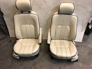 03 09 Land Range Rover Hse L322 Front Heated Seats Seat Tan Leather Oem A