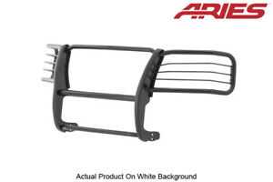 03 06 Gmc Sierra 2500 Hd 3500 Classic Black Front Grille Brush Guard 1pc Aries
