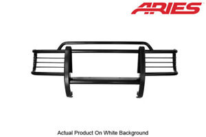 99 04 Jeep Grand Cherokee With Tow Hooks Black Semi gloss Grille brush Guard