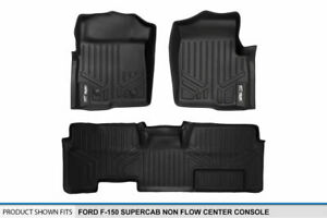 2011 2014 Ford F 150 Super Cab W o Console Floor Mats Black 1st 2nd Row Liners