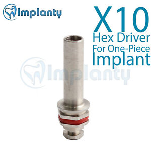 10x Hex Driver For One piece Implant Dental Fit Ab Alpha Bio Mis Zimmer Adin
