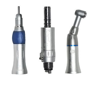 Dental Slow Low Speed Handpiece Push Button Complete Kit Set 4 Hole E type Ce 5a