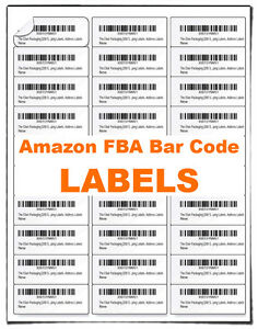 Fulfilled By Amazon fba Blank Bar Code Labels Merchant Barcode Address Label