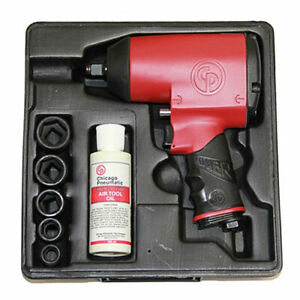 Chicago Pneumatic 1 2 Super Duty Impact Wrench With 5 Sae Sockets Cp749k
