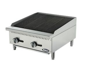 New 24 Radiant Char Broiler Commercial Restaurant Duty Gas Atrc 24 Atosa