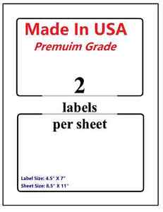 1000 Premium Shipping Blank Labels 7 X 4 5 made In Usa self Adhesive 8 5 X 11