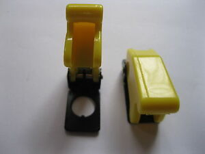 30 Pcs Yellow Color Safety Flip Cover For Toggle Switch Use