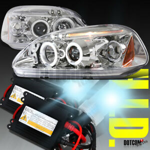 Slim Hid Kit 1996 1998 For Honda Civic Projector Headlights Clear Head Lamps