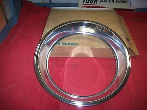 1967 68 69 Camaro Chevelle Corvette Nos 15x7 Trim Rings In Gm Boxes Pair 9796696
