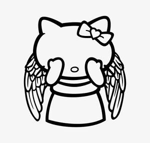 Decal Vinyl Truck Car Sticker Hello Kitty Dr Who Weeping Angel